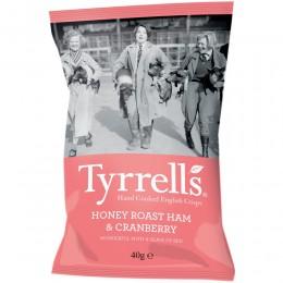 Tyrrells Honey Roast Ham & Cranberry Crisps